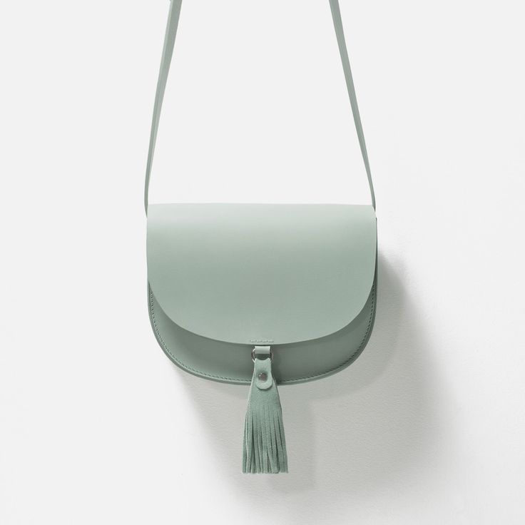 LEATHER MESSENGER BAG WITH TASSELS - View all - Bags - WOMAN   ZARA Ukraine