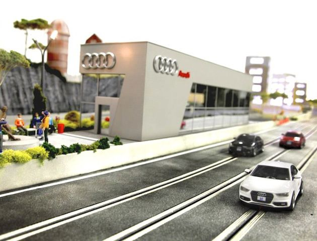 A day at the track. The Audi quattro Slot Car Experience