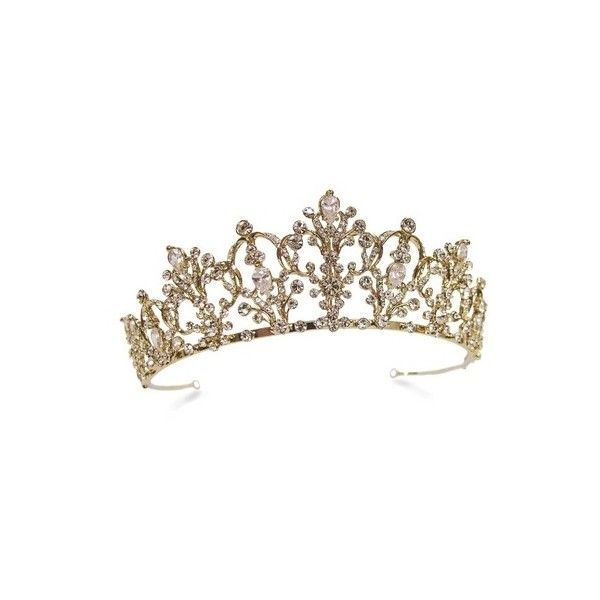 Wedding Tiaras, Wedding Jewellery & Bridal Hair Accessories UK ❤ liked on Polyvore featuring accessories, hair accessories, tiaras, crown, medieval, vintage bridal tiara, bridal crown, tiara crown, bride hair accessories and crown tiara