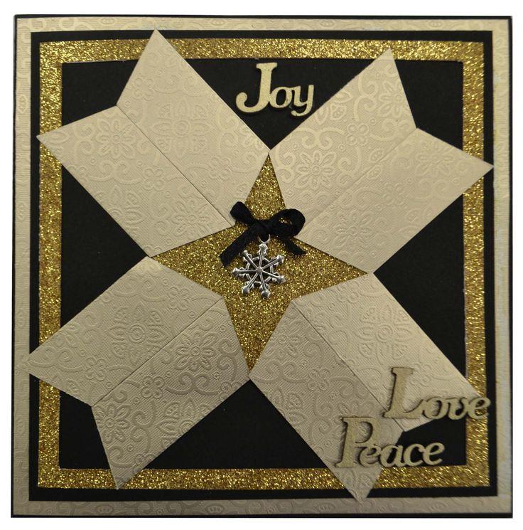 Gold Star Christmas Card