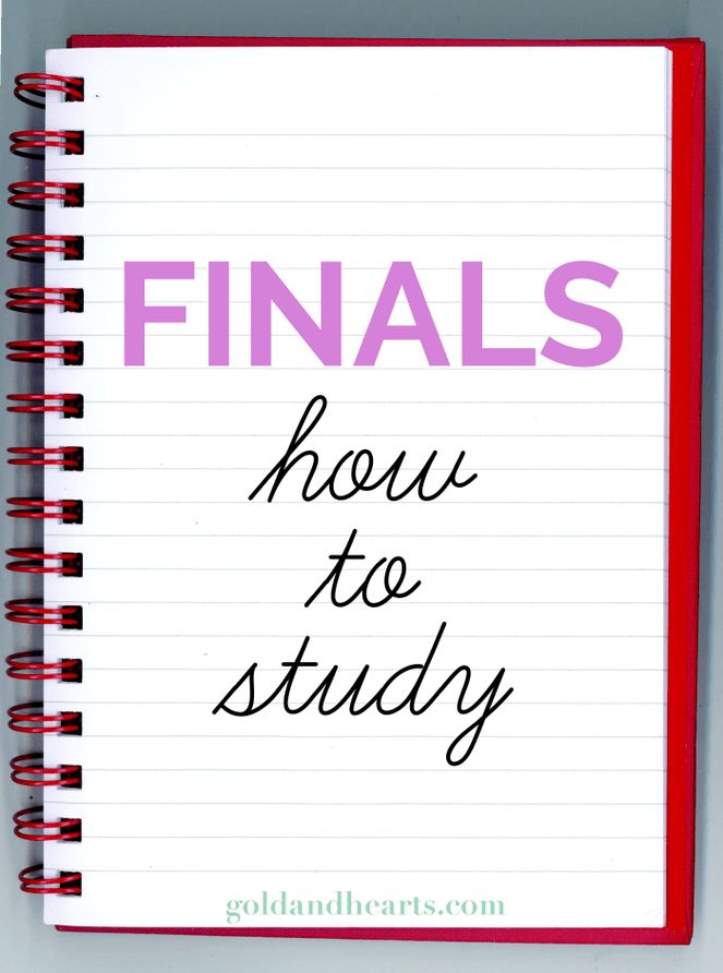 Finals | How to Study