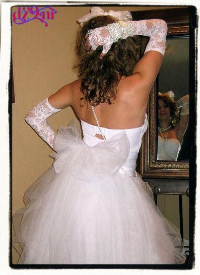 Madonna Like a Virgin bachelorette party gown/ dress