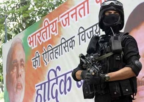 India's elite National Security Guard (NSG) commando in full kit.