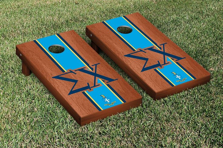 Sigma Chi Rosewood Stained Cornhole Game Set