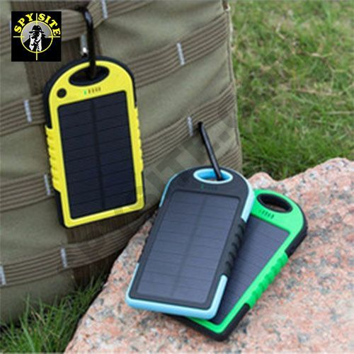 Recharge without the Charge - Must have Emergency Kit Tool Ideal for your home emergency kit and yet totally portable for when going outdoors. This solar powered battery bank can be charged using elec
