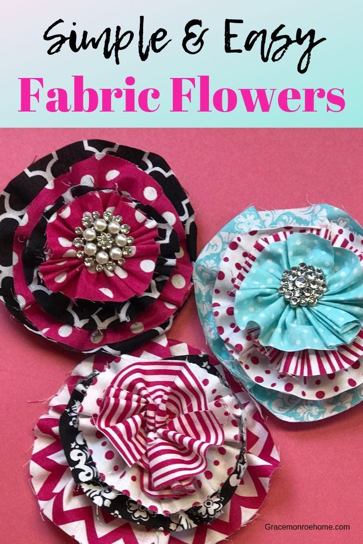 How To Make A Quick Easy Fabric Flower Diy Fabric Flowers