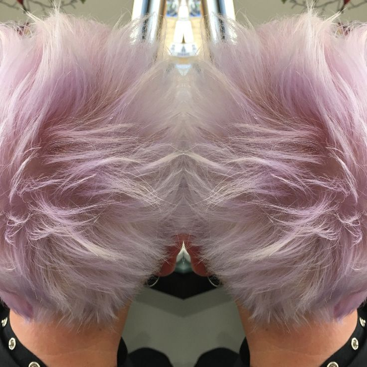 Funky lilac blonde