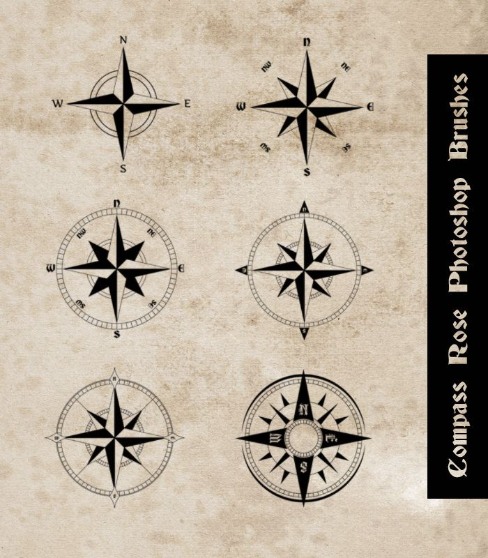 Compass Rose Photoshop Brushes by sdwhaven.deviantart.com