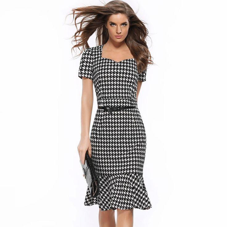 >> Click to Buy << New 2017 Fashion European Plaid Slim Pack Hip Dress Women Sexy Short Sleeve V-Neck Knee-Length Party Dresses Plus Size Vestidos #Affiliate