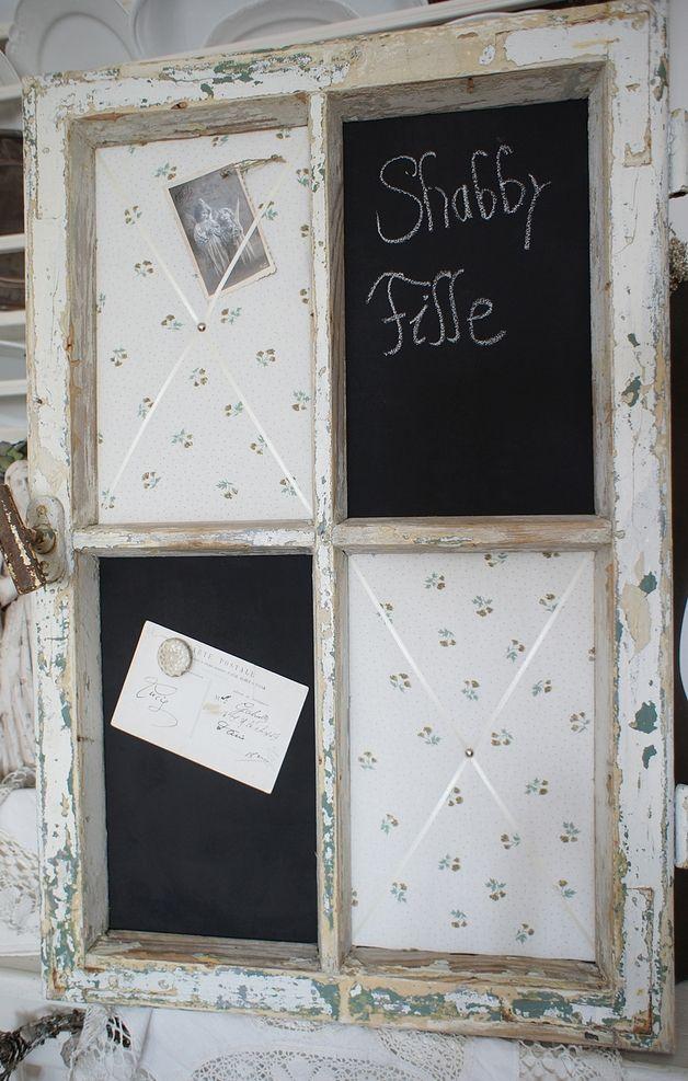 Pinnwände - Shabby Pinnwand Magnettafel altes Fenster *Erika* - ein Designerstück von shabby-fille bei DaWanda