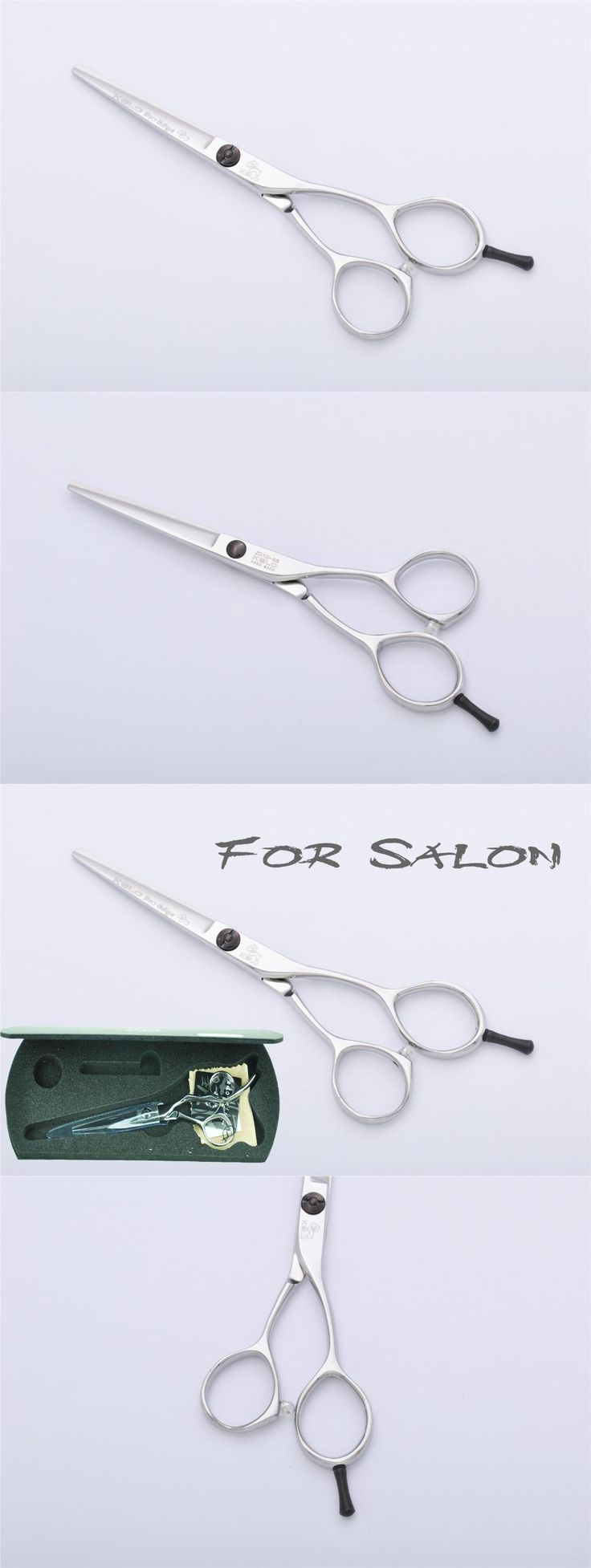 "5.5"" Steel Professional Barber Salon Hair Cutting Scissors / Shears Sharp Blades for Hairstyling and Thinning ZD10-I-55A"