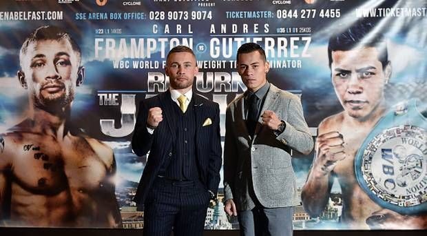 Watch Carl Frampton vs Andres Gutierrez Live Streaming free online on your PC, laptop, Mac, I-pad, Tab, Ps4/3, I-phone Android or any other online device. We provide unlimited free live streaming Carl Frampton vs Andres Gutierrez Fight with HD quality in your device.Here you can find clear and continuos Carl Frampton vs Andres Gutierrez live stream at your place.