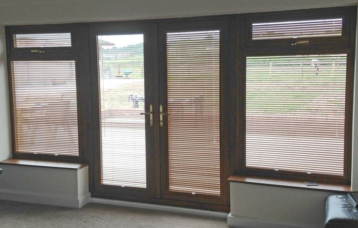 Perfect Fit Venetian Blinds with Golden Oak Frames