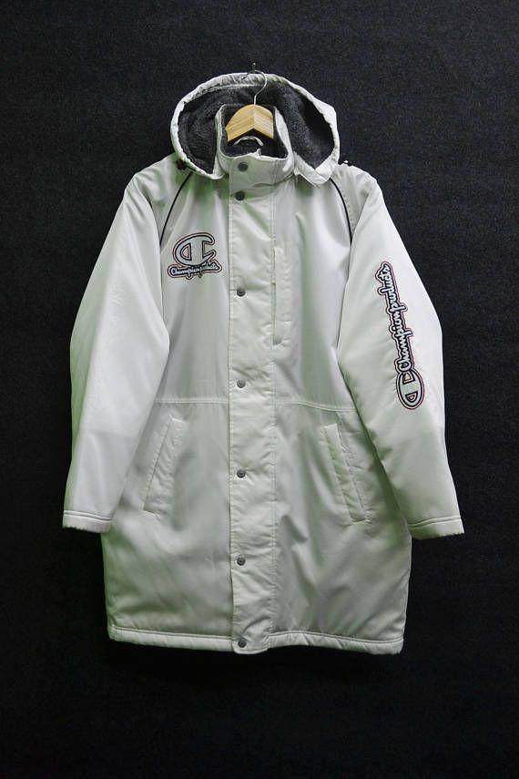 c491afceace CHAMPION Jacket Vintage Champion Products Big Logo Long Winter ...