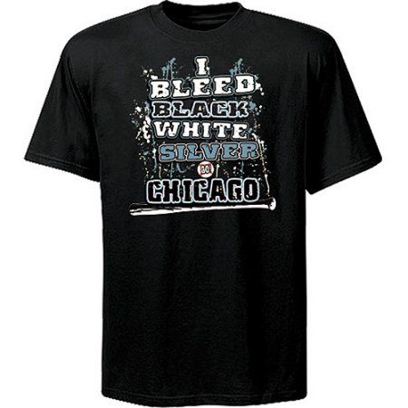 Chicago Baseball I Bleed Blue and Red Go Chicago! Blue T-Shirt