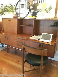 DANISH SCANDINAVIAN G PLAN VINTAGE MID CENTURY DESK COCKTAIL CABINET SIDEBOARD