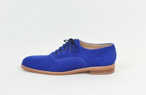 Men's MORIATI Laceup in Blue Suede