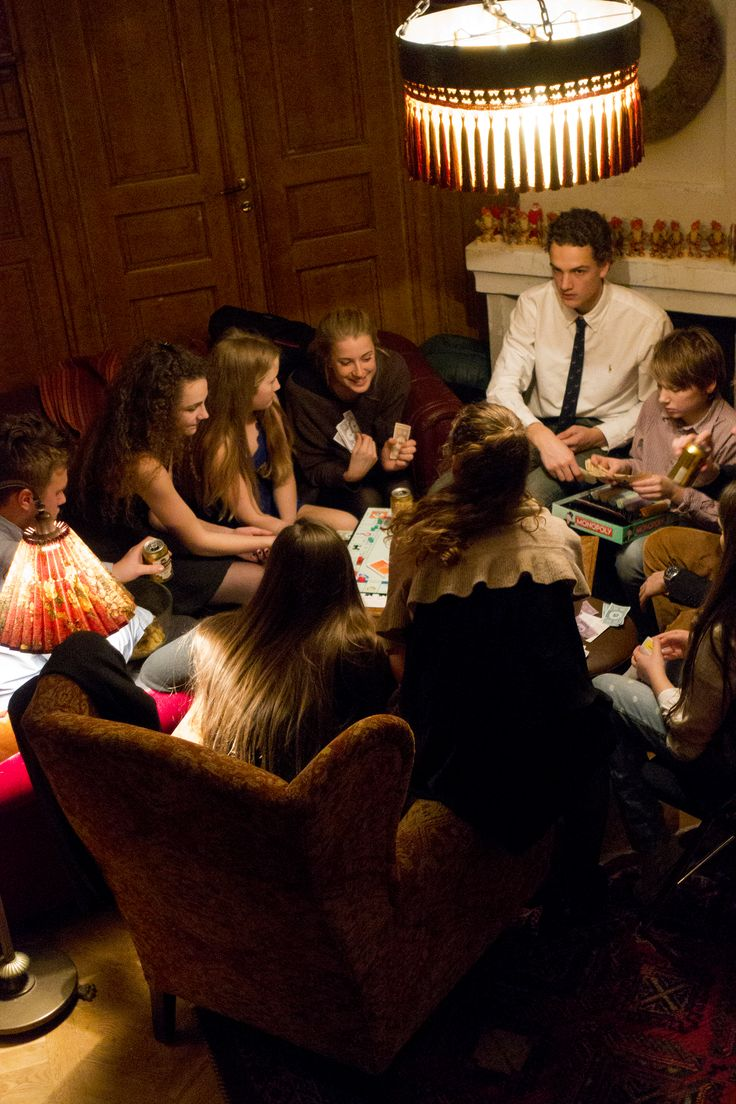 The cousins playing board games at Christmas