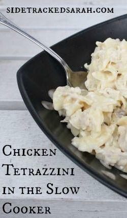 Chicken Tetrazzini Slow Cooker Recipe | Tetrazzini, Chicken and Recipe