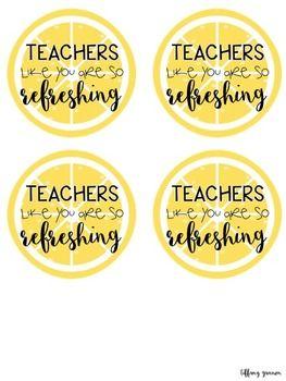 Teacher Gift Tags FREEBIE: Lemonade Edition | teacher ...
