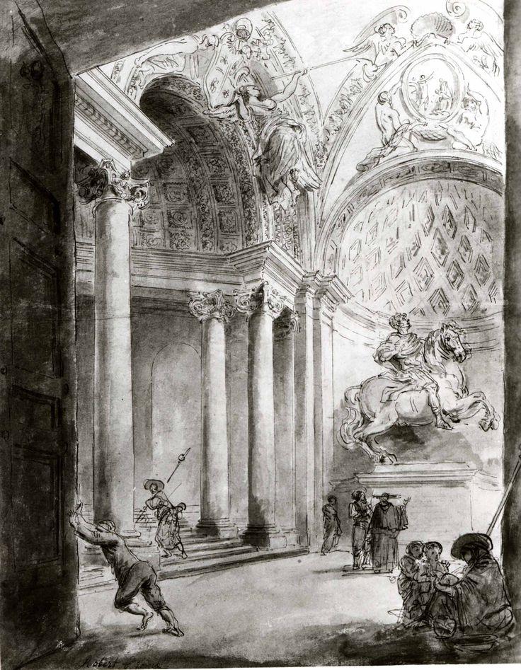 Hubert Robert | Interior of Saint Peter's | The Metropolitan Museum of Art