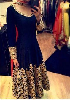 Exclusive Blue & Pink Anarkali