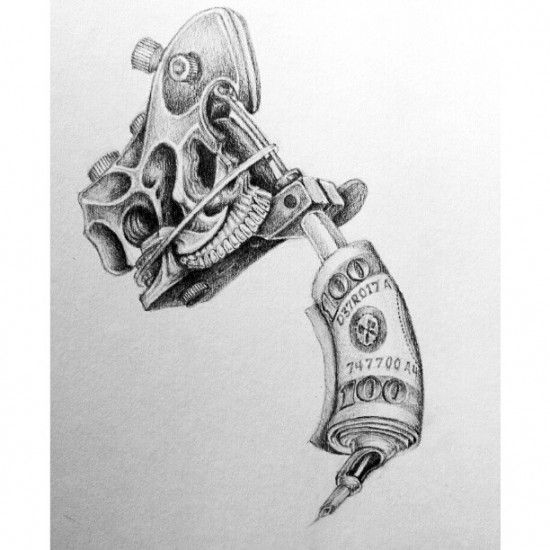 Cool Tattoo Guns Drawings Trmfp - Tattoo and Piercing ...
