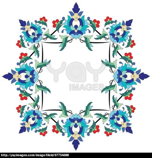 Ottoman motifs design series seventy two
