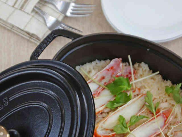 ストウブ料理「かにめし」の画像