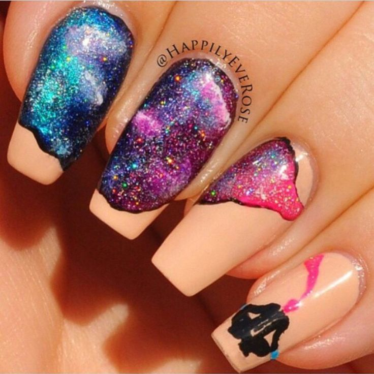 Gelaxy Gel Nail Polish: 1000+ Images About Galaxy Nails On Pinterest