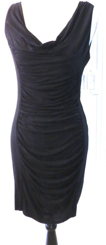 NEW With Tags Velvet Brand Black Sleeveless Ruched front Stretch Rayon Dress - Size M, ONLY $52.99 (PAID $140) & FREE Shipping