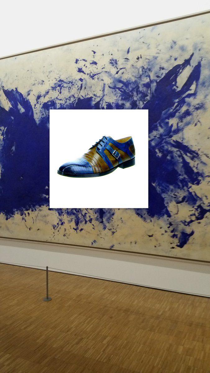 Die Serie Schuhe&Kunst geht weiter: die Melvin&Hamilton royal-blau und braun, edel, königlich, passend für viele Anzüge und nur für 189,99 € @schuhe24   #schuhe #blau #braun #trends #fashion  https://www.schuhe24.de/herren/sneaker-schnuerer/business-schuhe/melvin-hamilton-business-schuhe-blau-ricky-2