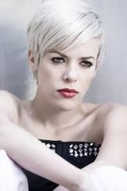 short silver hair dark roots - Google Search
