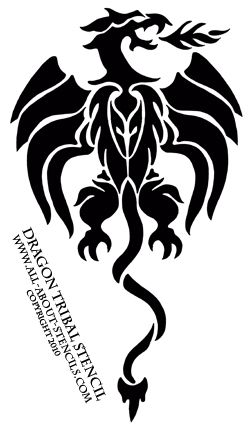 tribal stencil dragon from www all about stencils com airbrush