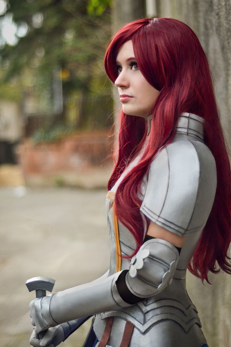 Anime: Fairy Tail. Character: Erza Scarlet. Version: Heart Kreuz Armor. Natalia Vera 'aka' Luniwe. From. Uruguay. Photo: Mariana Serra - Panda Life. - COSPLAY IS BAEEE!!! Tap the pin now to grab yourself some BAE Cosplay leggings and shirts! From super hero fitness leggings, super hero fitness shirts, and so much more that wil make you say YASSS!!!