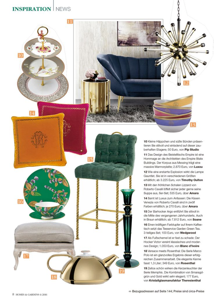 Homes & Gardens Germany featuring ANDES Sofa by BRABBU | Modern Interior Design. Home Decor. Furniture Design. #homedecor #interiordesign #homesandgardens