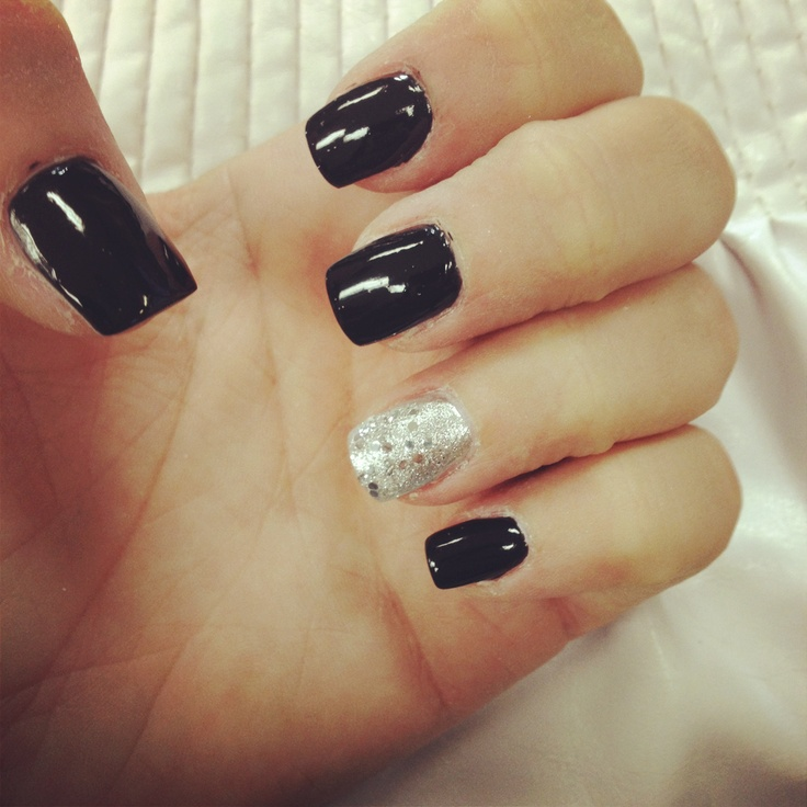 Elegant Silver Nails For Prom: Nails, Silver And Black On Pinterest