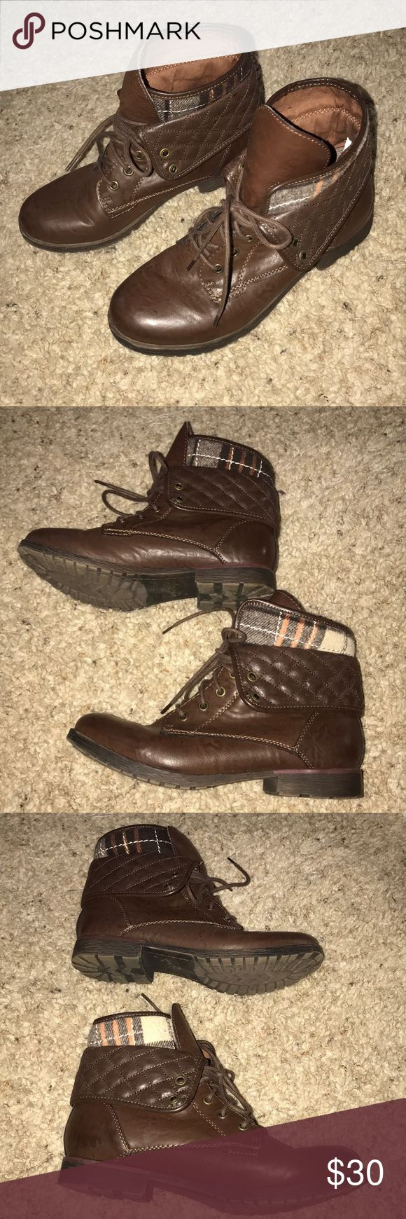 Rock and Candy Brown Boots Purchased from Nordstrom department store worn a handful of times in good condition. Rock and Candy Shoes