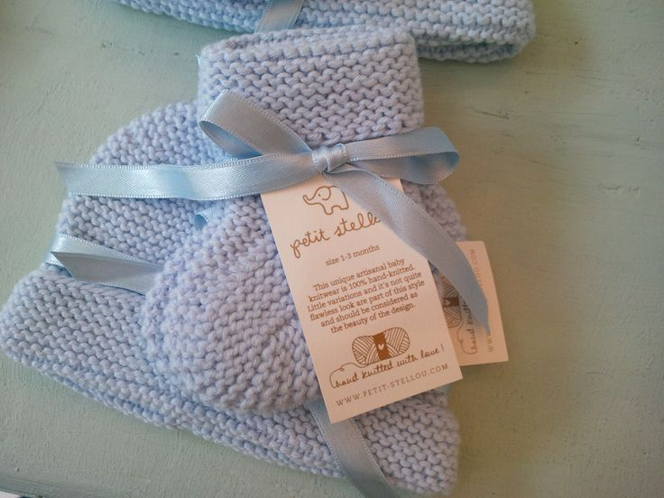 Piccoli & Co. little hand knitted boots and hat