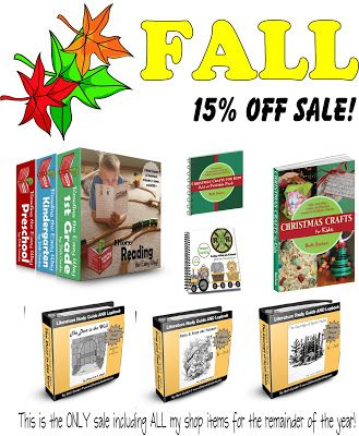 Reading the Easy Way, Christmas Crafts for Kids, Literature Guides & Lapbooks all on sale for fall! Promo code Fall15