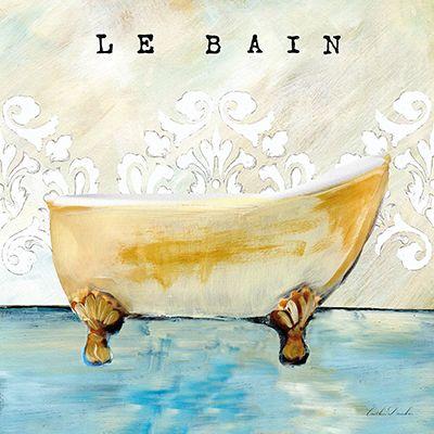 French Cottage Bath I  Caitlin Dundon
