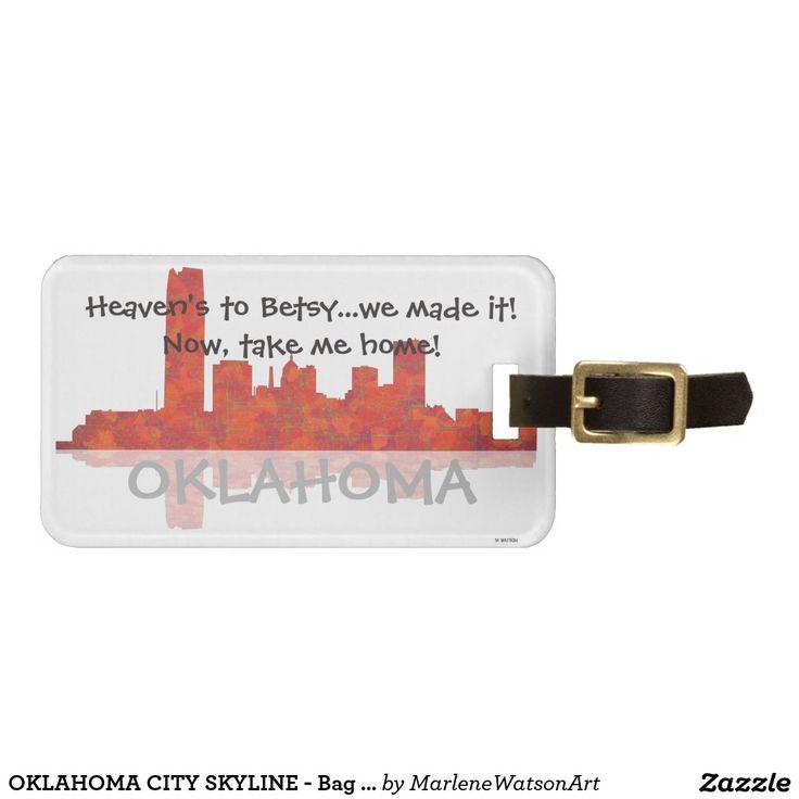 OKLAHOMA CITY SKYLINE - Bag Tag Tags For Luggage
