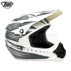 2014 Thh Tx11 Razor Motocross Helmet - White Silver - 2014 Thh Motocross Helmets - 2013 Motocross Gear - by Thh Helmets