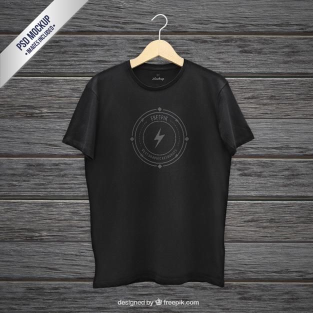 Download Awesome Free Psd Mockup Of Black Hanging T Shirt Front View Freepik Has Created This Amazing High Resolution Free Pho Free T Shirt Design T Shirt Image Shirts