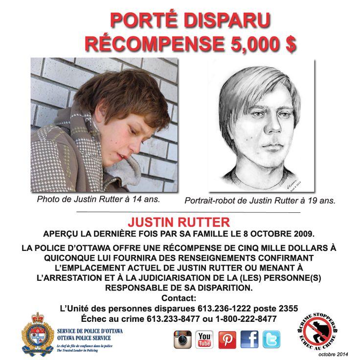 Aidez-nous à trouver Justin Rutter – toujours manquant après 5 ans.