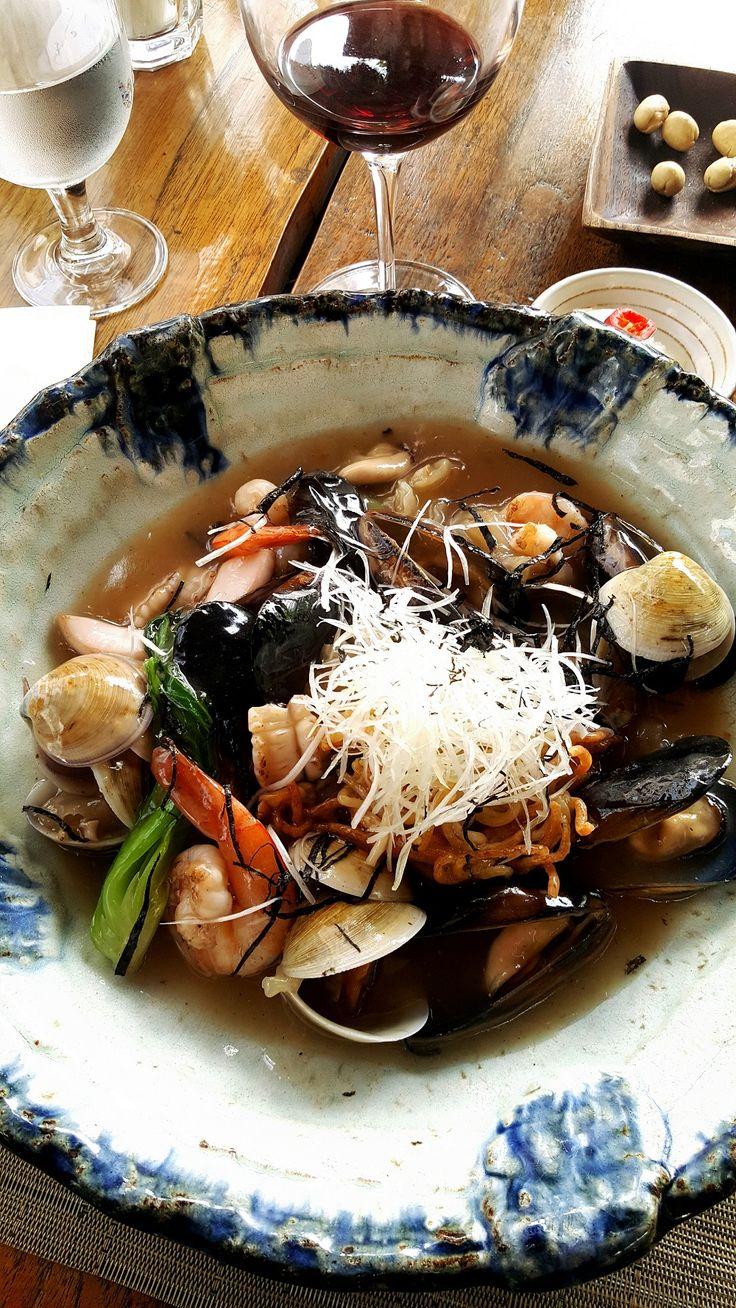 Japanese Style YAKI(pan-fried) Pasta with Seafood #pasta