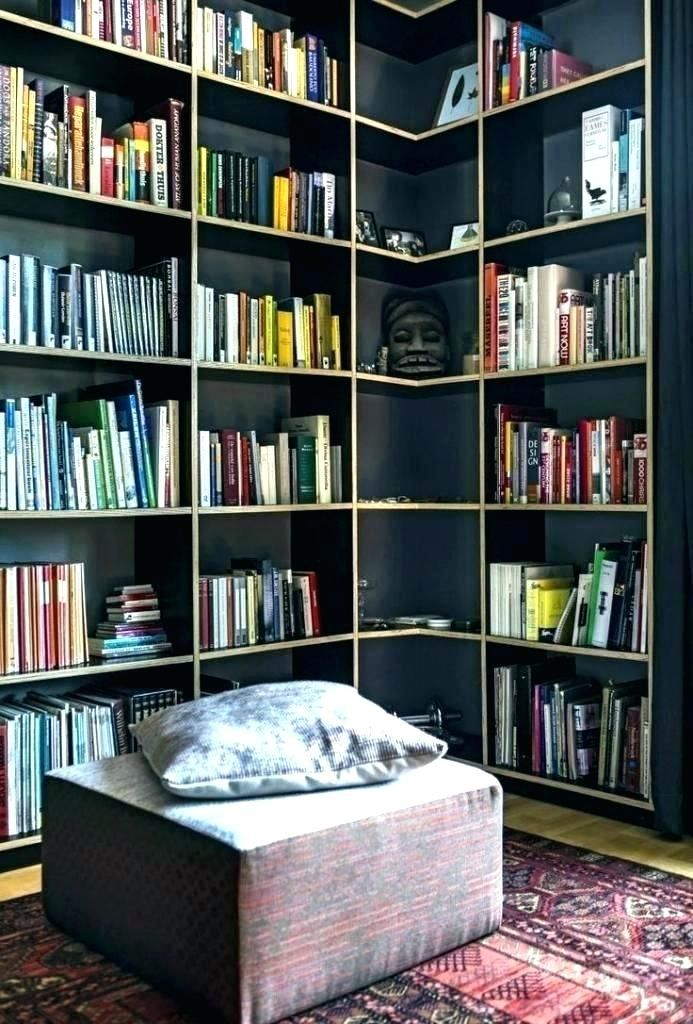 Simple home library Small home libraries, Home library