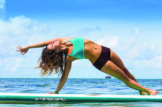 Amazing paddle board yoga poses