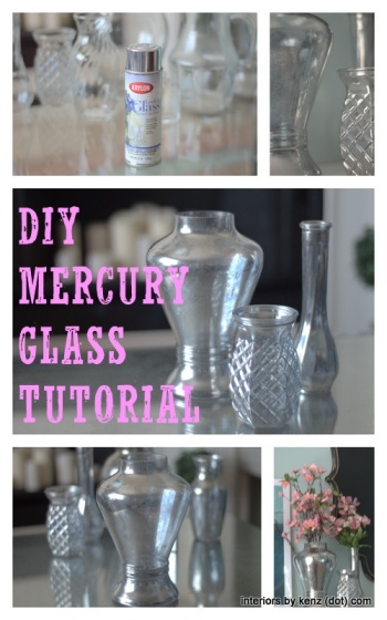 Turn dollar store vases into classy mercury glass vases