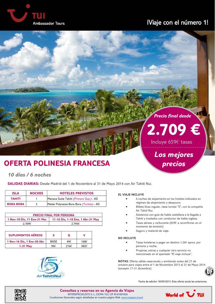 ¡Los mejores precios! Oferta Polinesia Francesa Maitai Bora Bora. Precio final desde 2.709€ - http://zocotours.com/los-mejores-precios-oferta-polinesia-francesa-maitai-bora-bora-precio-final-desde-2-709e-3/